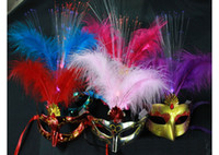 Wholesale Masquerade Mask Halloween Dance Party Masks Flash Light Custume Ball Mask