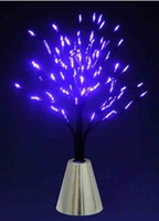 Wholesale 7Color blue CE Christmas Xmas Tree Fiber Optic LED Night Light fiber ghost tree