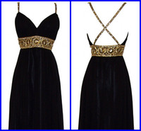 Real Sample Hot sale Sexy Sheath Column V Neck Sequin Beaded...