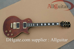 custom brown Tigrina electric guitar with vibrato China Guitar free shipping