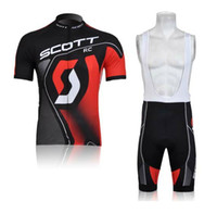 Wholesale HOT NEW SCOTT Team Sleeve Cycling Jerseys Set Cycling Wear Clothing BIB Shorts