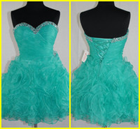 Real Sample Fashion Ball Gown Sweetheart Mini Sequin Beaded ...