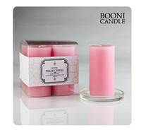 Wholesale Rose Scented Pillar Candle Wedding Party Aromatherapy Candle Decor Pale Pink