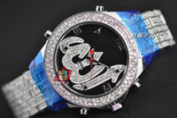battery diamond - Luxury Co Diamond Gem Mens Watch Black Quartz Chronograph Sport Wristwatch Stainless Men s Watches