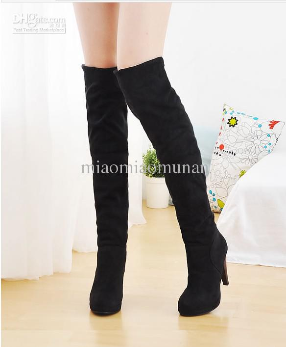 Stretch Over The Knee Boots Frosted Repair Leg Waterproof Table ...
