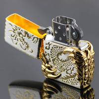Wholesale Lighter Halley treasure ice gold windproof lighter Gold Dragon