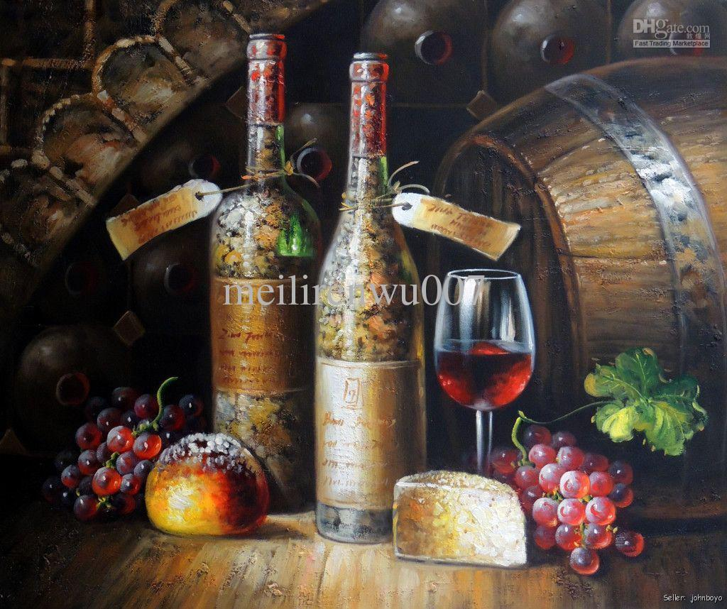 The gallery for red wine painting for Wine cellar paint colors