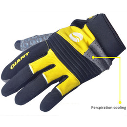 Cycling Bike Bicycle GIANT FULL Finger Gloves Size M - XL Color Blue Red Yellow