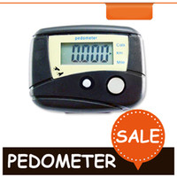 Wholesale NEW Electronic Multi function Step Counter High Quality Pedometer Black