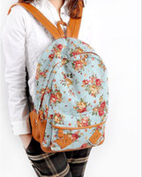 Wholesale Back To School new Fashion Girl s School Bag Flower Designs Backpack