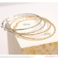 Wholesale large basketball hoop Earrings bamboo silver Gold plain set of earring charm gift fashion jewelry