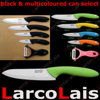 Wholesale 3 quot quot quot quot inch Paring Fruit Utility Chef Ceramic Knife Set Peeler Black Multicoloured
