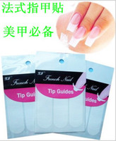 Wholesale AL002 Packs Nail Art French Tip Guides Sticker C Y V Style Guides Sticker Stencil NT01129