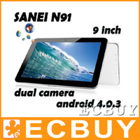 Wholesale 5pcs Android tablet inch Sanei N91 Elite Allwinner A13 G dual cameras netbook notebook laptop