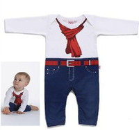 red tie Christmas Unisex Baby romper Red tie Baby one-pieces Infant Jumpsuits Infant jumper 4pcs lot