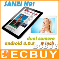 Wholesale 9 inch Android Sanei N91 Elite Capacitive Allwinner A13 Tablet PC Dual Camera