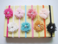 Headbands Blending Floral Children Accessories Crochet Headbands With Flowers Girls Hair Bows Baby Hair Bands Kids Hair Clips
