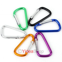 Wholesale 100pcs Mixed Outdoor High Quality D type Quickdraw Locking Aluminum Carabiner Carabiner