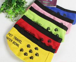 Wholesale Travel Fold Pet Bowl High Quality Traveling Folding Dog Bowl Pet Food Dish Pet Feeders Color Random