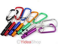 Wholesale 40 Mixed Outdoor D type Quickdraw Locking Aluminum Carabiner Carabiner Survival Whistle