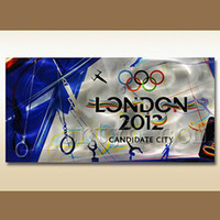 Wholesale Popular Lodon Olympic Game Gift Decoration Metal Wall Art Sculpture Ready to hang