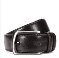 Wholesale factory direct sales upscale fashionable man hide belt coffee