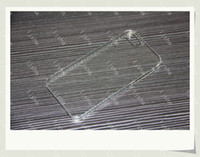 Wholesale DHL Crystal Hard Plastic Clear Transparent Black White Back cover case for iphone G S