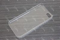 Wholesale DHL Crystal Hard Plastic Clear Transparent Back Cover Case Casing for iphone G