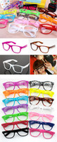 Wholesale 10 Fashional Clear Lens Glasses Colors in choice