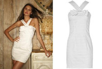 Wholesale gossip girl white bowknot lace skirt one piece dress XS S M L