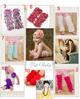 Wholesale 20 Pairs Baby Girls Lace Petti Ruffles Leg Arm Warmers for Rompers Tutu Free Size Legging Socks