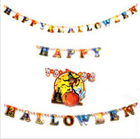 Wholesale Halloween Decoration Party Decoration Cool Paper Decoration Ghost Pumpkin Spider Bat etc Hot Sale