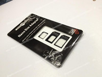 Wholesale Brand New in Adapters Nano SIM amp Micro SIM amp Standard SIM Card Adapters for iPhone S Black