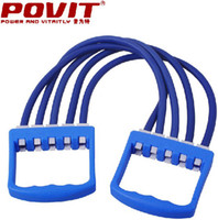 Wholesale POVIT latex Chest muscle strength training home gym Fitness resistance Bands Tensile exercise tubes