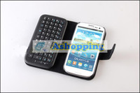 Wholesale 20 Stand Leather Case With Bluetooth Keyboard For Samsung Galaxy S3 S III I9300 Detachable