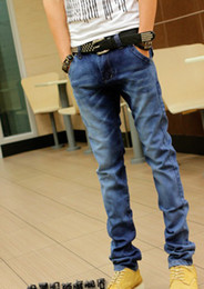 Wholesale 2013 Fashion Personality Jeans Trendy Men s Jeans Hit Washed Stitching Color Influx Men s Trouser