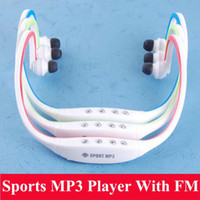 Wholesale New Sport MP3 Music Player TF Slot Wireless Headset Headphone Earphone With FM Radio