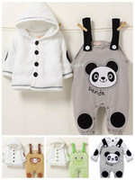 Boy baby fleece outfits - Baby Boy Fleece Hooded Coat Jacket amp Dungarees outfit Toddler costume Clothes Models sets M T