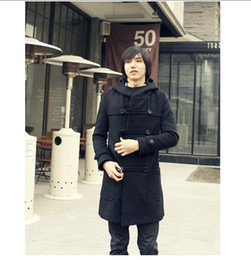 Wholesale Autumn and Winter Fashion Double Breasted Wool Coat Mens Hoodie Wool Coat