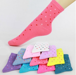 Wholesale Women Candy Color Dot Short Sock Fit For Yards Cute SOX pair A956
