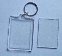 photo insert keychains acrylic blanks - 500X Blank Acrylic Rectangle Keychains Photo Key Chains For Photo Size quot x quot