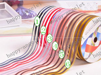 Wholesale Nylon Organza Printed Ribbon stripe ribbon for gift packaging amp DIY headband bowknot Y roll Hallo