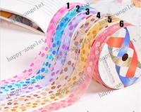 Wholesale Nylon Organza Printed Ribbon flower ribbon for gift packaging amp DIY headband bowknot Y roll Hallo