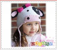 Wholesale New arrival hot sale baby crochet hats Girl boy newborn dinosaur hat infants cotton Beanies