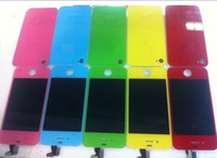 Wholesale Colorful Lcd Display Digitizer Screen Assembly Back Cover Button Housing For Apple iphone G