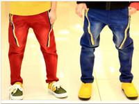 color jeans - Fashion Boy s Apparel Store Autumn Korean bright color boys jeans pants children pants kids jeans