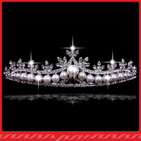 Wholesale 2015 Hot Sale Shining Impearl wedding crowns crystal jewelry hairclips wedding tiaras comb AT