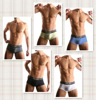 Nylon Boxers Sexy Men's Sports Underwear HOM Brand New Sexy Briefs 5 colors 10pcs lot