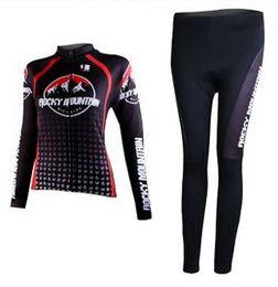 WOMEN'S SPRING CYCLING WEAR LONG JERSEY + PANTS 2012 ROCKY MOUNTAIN TEAM BLACK-PICK SIZE:XS-XXL R02