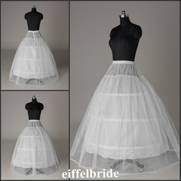 Wholesale Fashion White Ivory A Line Floor Length Hoops Tulle Petticoats For Bridal Dresses